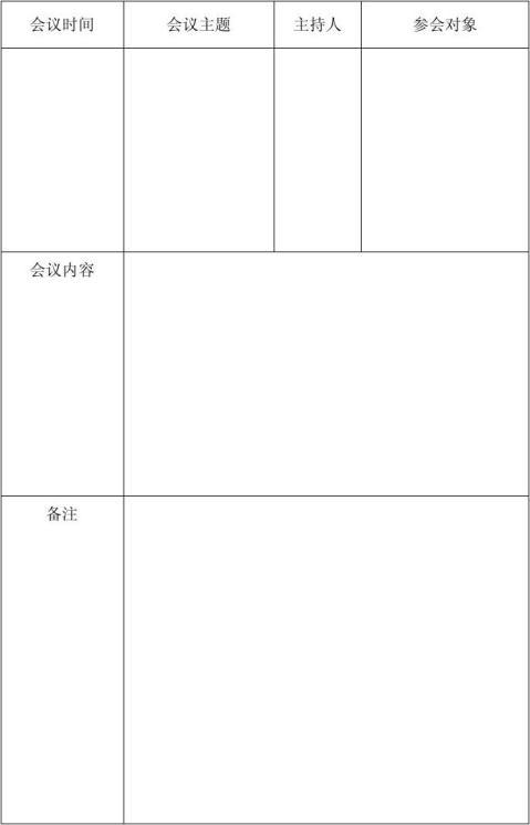 视频会议记录表